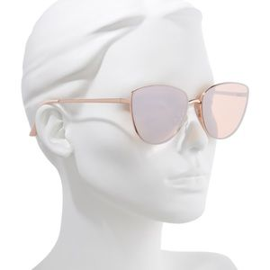 BP rose gold cat eye sunglasses